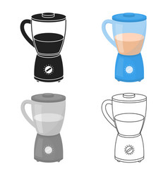 blender icon in cartoon style isolated on white vector image