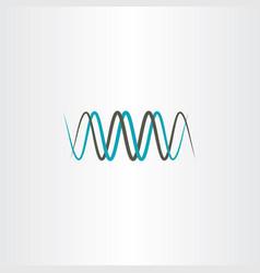 frequency wavelength logo symbol vector image