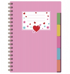 Pink notebook vector