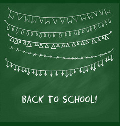 Back to school card with garlands vector