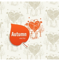 Autumn season concept vector