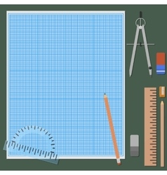 Accessories for mechanical drawing vector