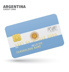 Credit card with argentina flag background for vector