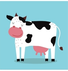 Cute cartoon cow vector