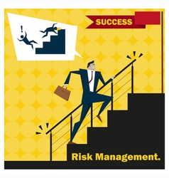 Business idea series risk management concept 2 vector