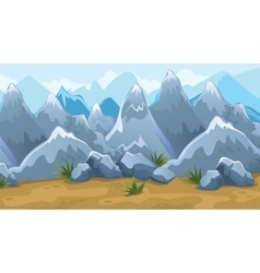 Mountains game background vector