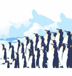 Crowd penguins vector