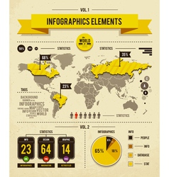set of infographics vector image