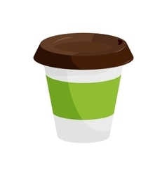Plastic coffee cup icon cartoon style vector