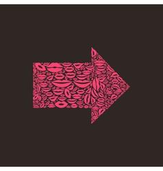 Arrow a lip vector image vector image