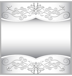 background frame with white spiral ornaments vector image vector image