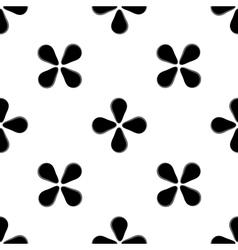 Black flower geometric seamless pattern vector image
