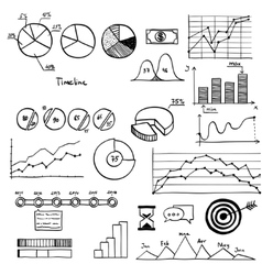 Business and finanse hand draw doodle elements vector image vector image