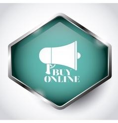 Buy online button design vector