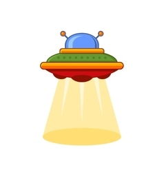 Cartoon style ufo icon vector