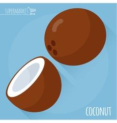 Coconut icon vector image vector image