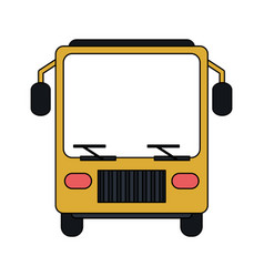 Color image front view public service bus vector