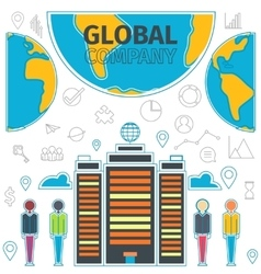 Company Global Concept vector image