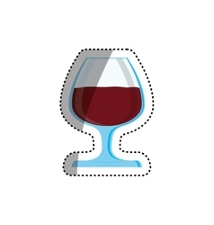 Cup of wine vector image vector image