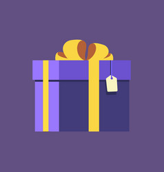 gift with tag vector image