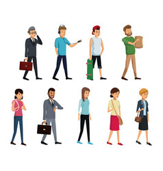 group people society standing vector image