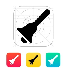 Hand bell icon vector