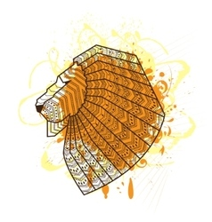 Lion head silhouette vector image