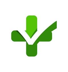 Medical logo icon ceklist vector