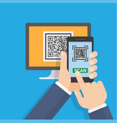 mobile app for scanning qr-code vector image