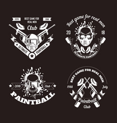 paintball game sport club logo templates of gamer vector image
