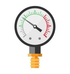 Pressure sensor manometer isolated vector image