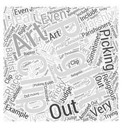 religious clip art Word Cloud Concept vector image vector image