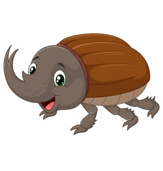 Rhinoceros beetle vector image vector image