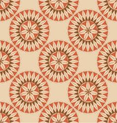 seamless retro circular ornament-03 vector image
