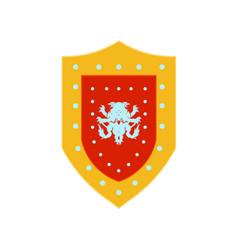 Shield warrior logo spartan knight helmet armor vector