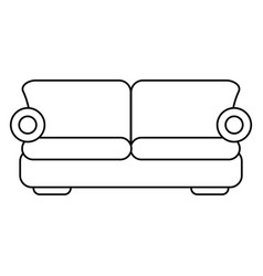 sofa comfor furniture thin line vector image vector image