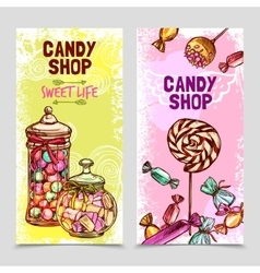 Sweet banner set vector