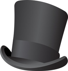 top hat vector image vector image
