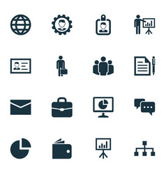 Trade icons set collection of leader pie bar vector