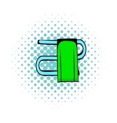Trumpet with a towel comics icon vector image