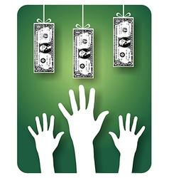 Unreachable money vector image