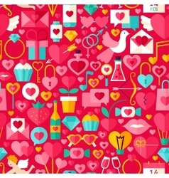 Valentine day red seamless pattern vector