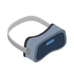Virtual reality headsets icon isometric 3d style vector