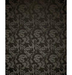 Wallpaper pattern black vector image vector image