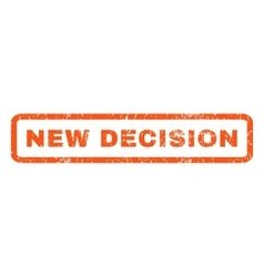 New decision rubber stamp vector