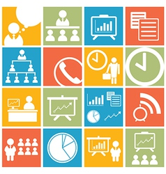 Business office icon and symbol set vector image