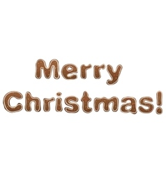 Merry christmas gingerbread lettering text for vector