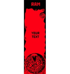 Ram a symbol of chinese horoscope vector