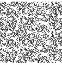 Line rose wedding seamless pattern vector