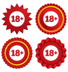 18 years old sign adults content icon vector